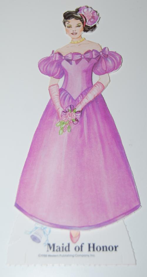 Bride & groom paperdolls 1991 4