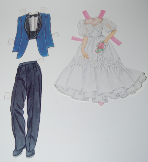 Bride & groom paperdolls 1991 9