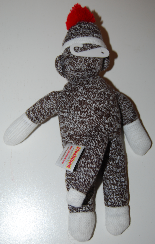 Sock monkey plush toy 1