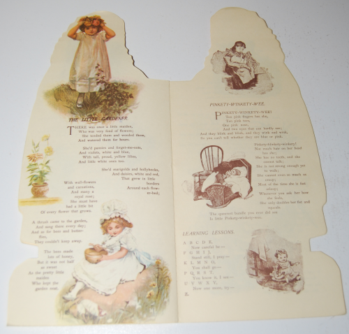 Little flower girl book & paper dolls 6