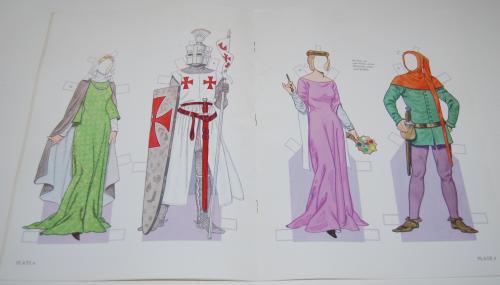 Medieval costumes paperdolls 3