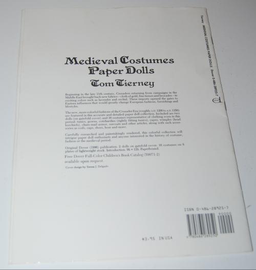 Medieval costumes paperdolls x