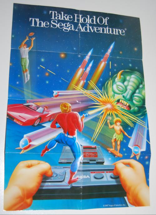 Vintage sega game system ad
