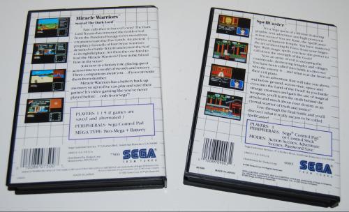 Vintage sega master system games 10