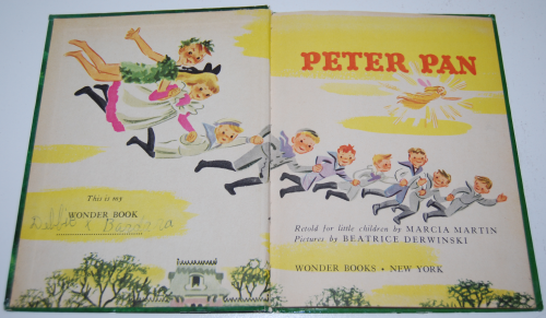 Peter pan wonder book 1