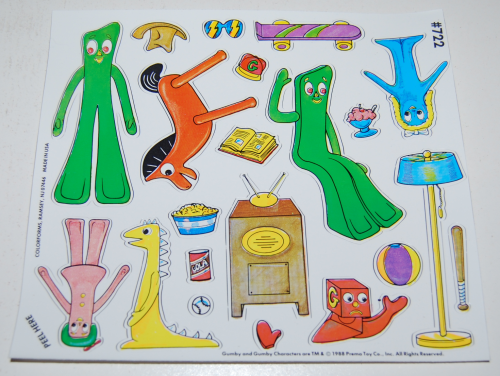 Gumby colorforms playset 6