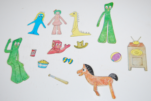 Gumby colorforms