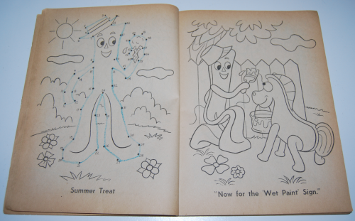 Gumby & pokey coloring book whitman 2