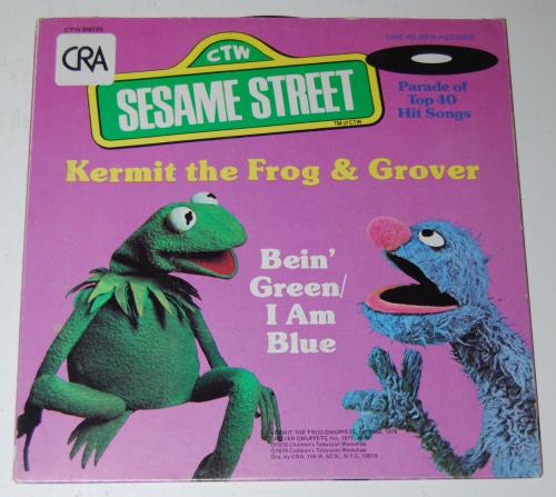Vintage sesame street vinyl records 2