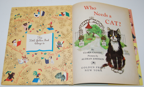 Little golden book who needs a cat 1