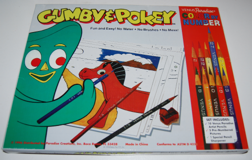 Gumby & pokey color by number