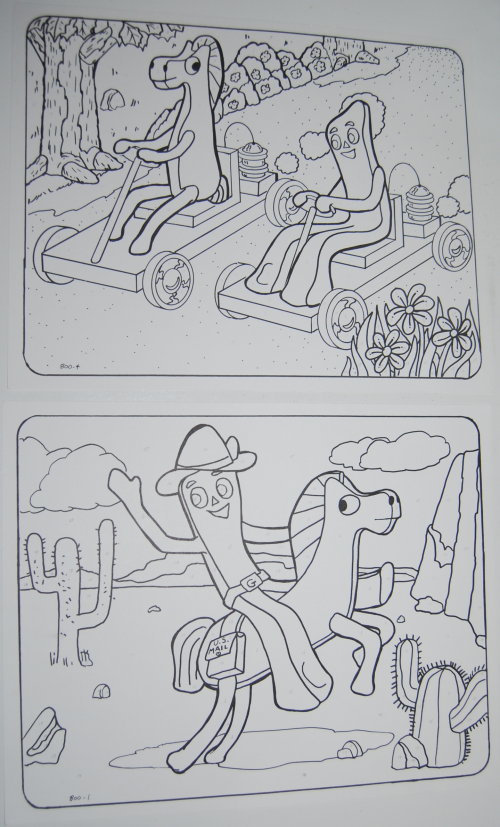 Gumby & pokey color by number 2