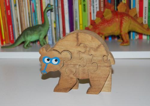 Vintage wooden bear puzzle x