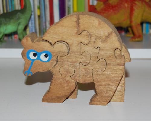 Vintage wooden bear puzzle 2