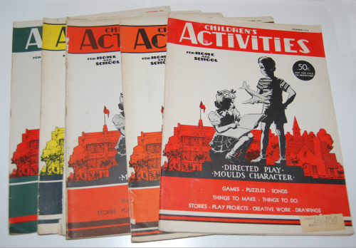 Children's activities mags 40s