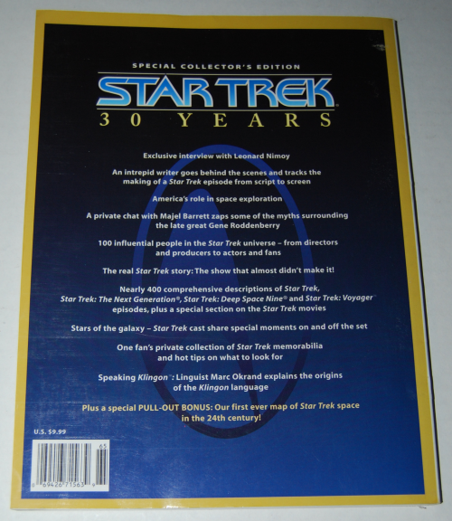 Star trek special edition 30 year collector's book x