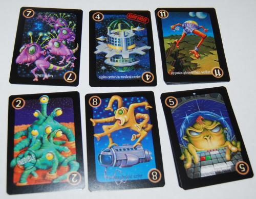 Alien hotshots card game 2