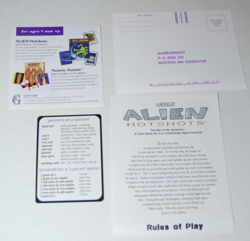 Alien hotshots card game 3