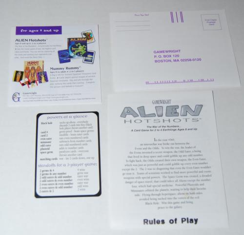 Alien hotshots card game 3