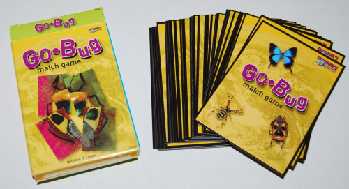 Go bug match card game