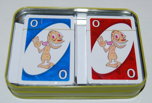 Ren & stimpy special edition uno card game tin 1