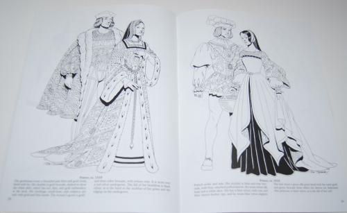 Dover renaisance fashion coloring book 4