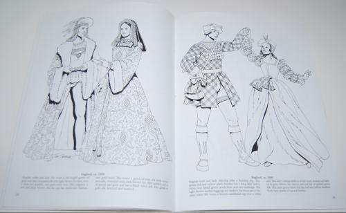 Dover renaisance fashion coloring book 5