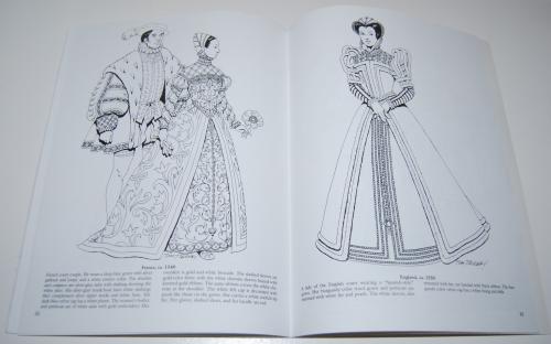 Dover renaisance fashion coloring book 7