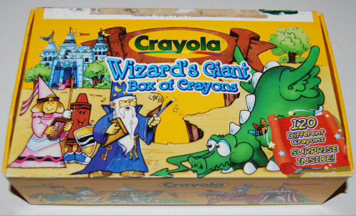 Crayola's wizard's giant box of crayons