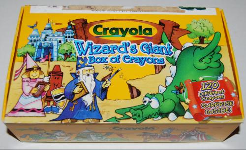 Crayola's wizard's giant box of crayons