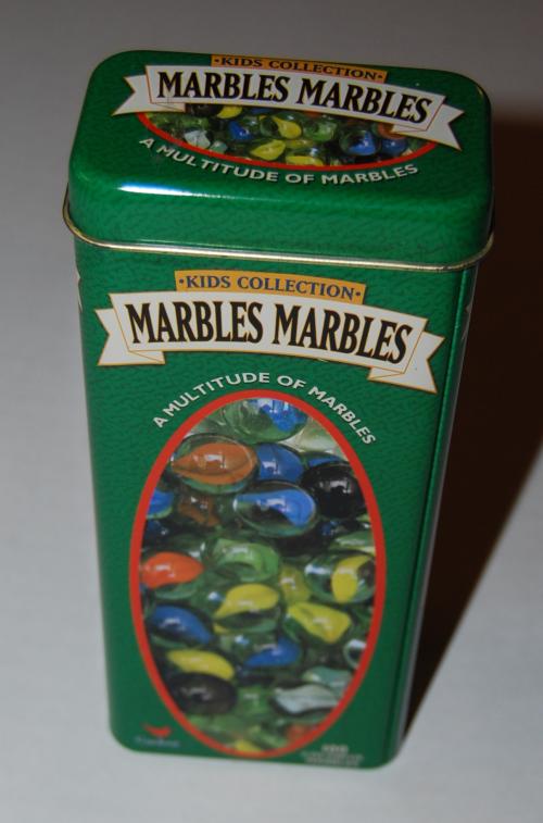 Marbles tin