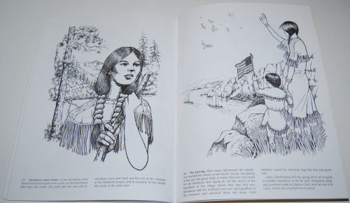 Dover sacajawea coloring book 10