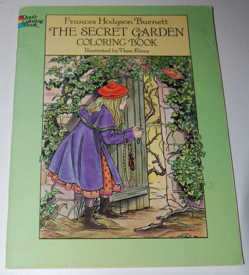 Dover secret garden coloring book