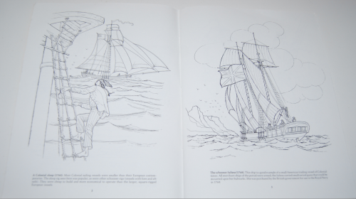 Dover american sailing ships coloring book 2