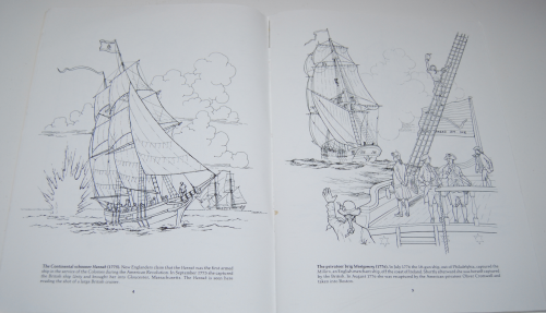 Dover american sailing ships coloring book 3