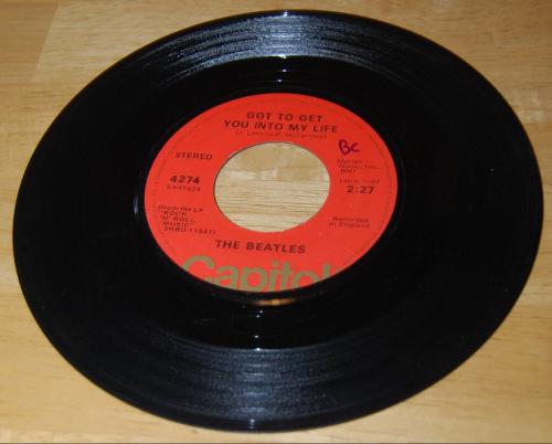 Vintage vinyl beatles 45s 8x
