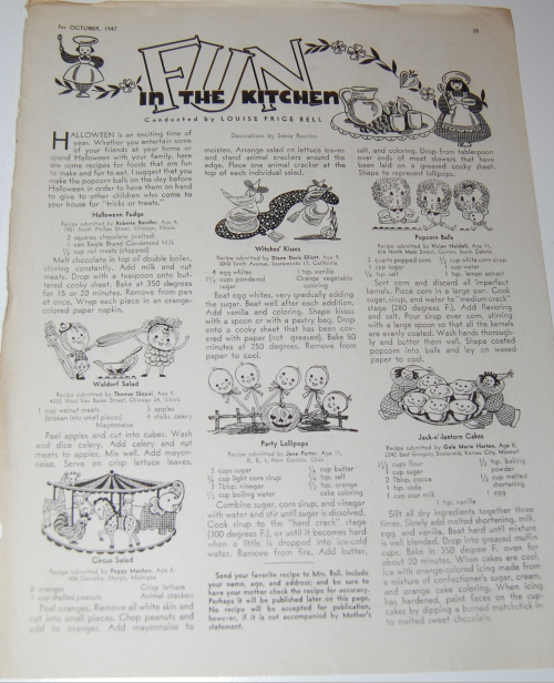 Children's activities magazine october 1947 13