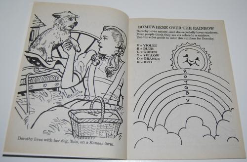 Wizard of oz golden coloring book 2