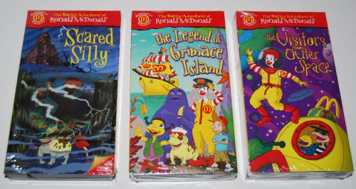 Ronald mcdonald wacky adventures vhs happy meal