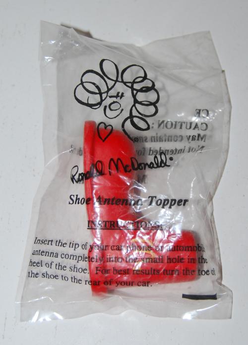 Ronald mcdonald red shoe antenna topper