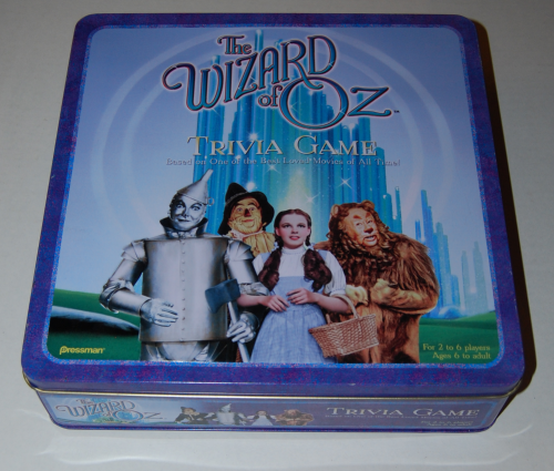 The wizard of oz trivia game tin