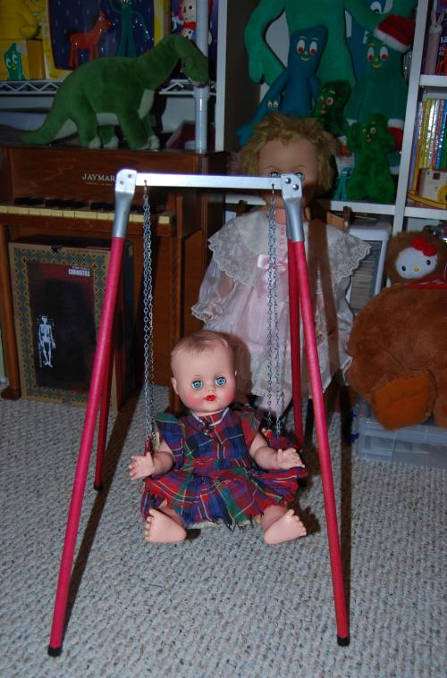 Vintage doll & swing 6