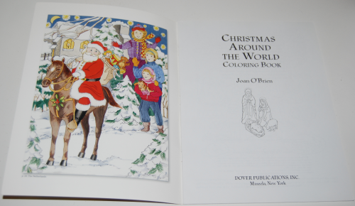 Dover xmas around the world coloring book 1