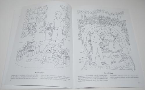Dover xmas around the world coloring book 6