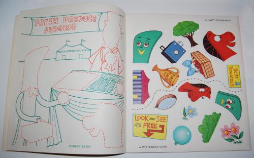 Gumby & pokey sticker fun whitman 5