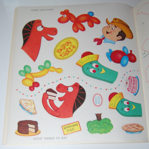 Gumby & pokey sticker fun whitman 10