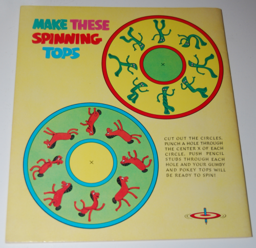 Gumby & pokey sticker fun whitman 1