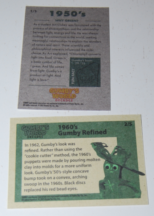 Gumby's world cards 1