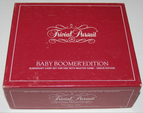 Trivial pursuit board game baby boomer edition