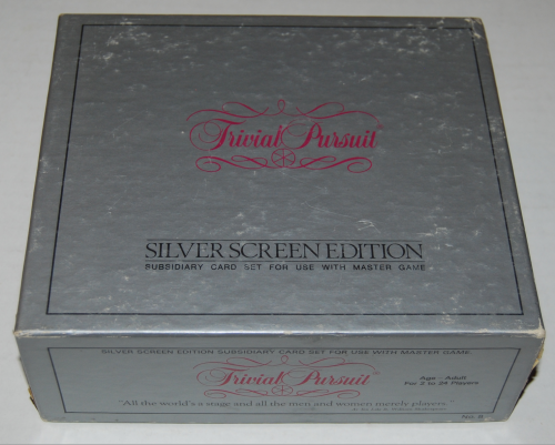 Trivial pursuit board game silver screen edition